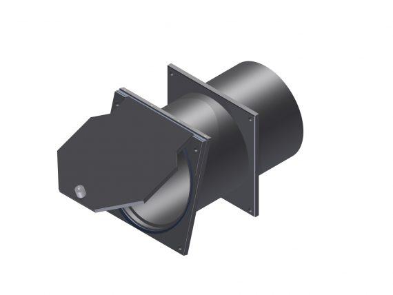 Terugslagklep met muurdoorvoer KRK-R-D DN100 DN500 OPEN