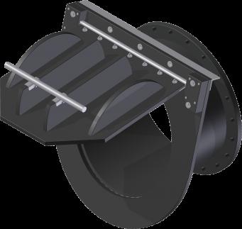 KRK-R-F Terugslagklep op duiker voorzien van flens aansluiting