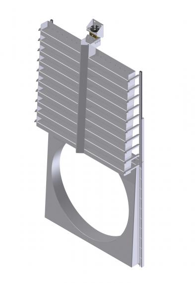 KSA-HD industriële wandafsluiter open