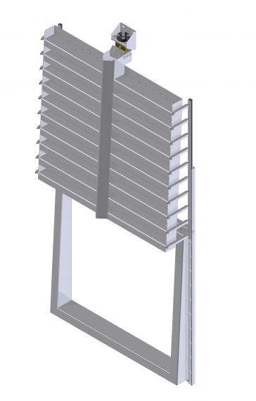 KSA-HD-RH industriële wandafsluiter open